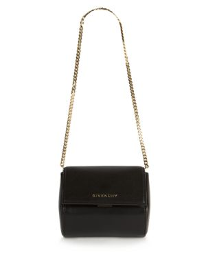 490bee9591 Givenchy Pandora Box Micro Leather Shoulder Bag In Black | ModeSens