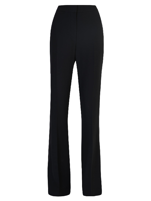 Alexander Mcqueen Flared Trousers In Black