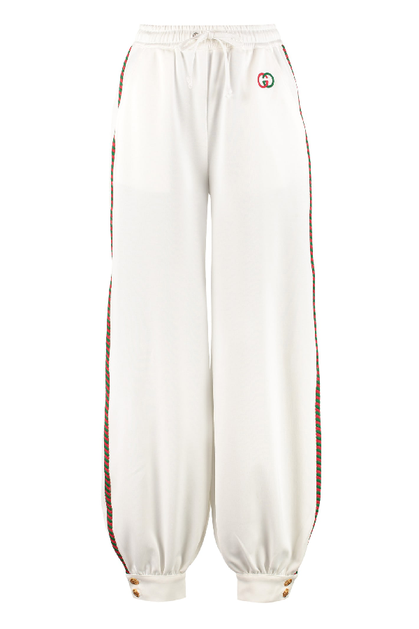 Gucci Track-Pants With Decorative Stripes In White