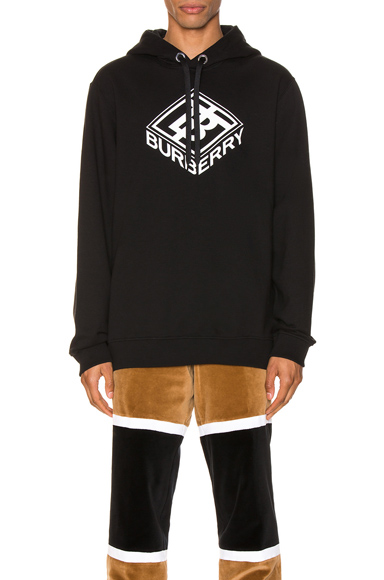 Burberry Graphic Logo Hoodie - 黑色 In Black
