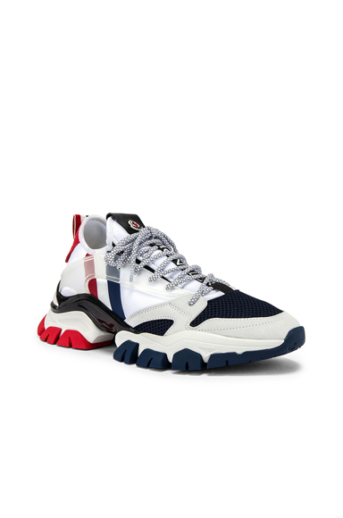 Moncler Low-top Sneakers Trevor Calfskin Logo White-combo