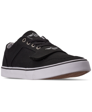 Creative Recreation Men's Cesario Canvas Low Top Casual Sneakers From Finish Line In Black
