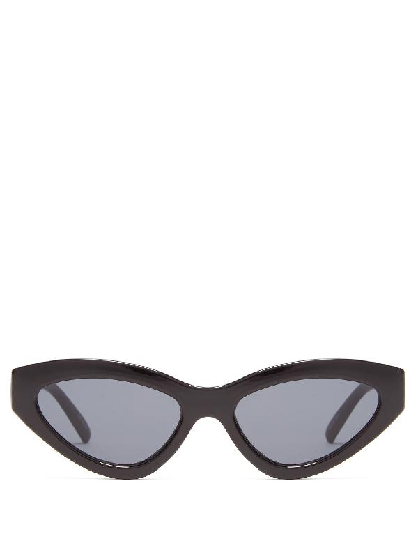 Le Specs Synthcat Cat-eye Acetate Sunglasses In Black