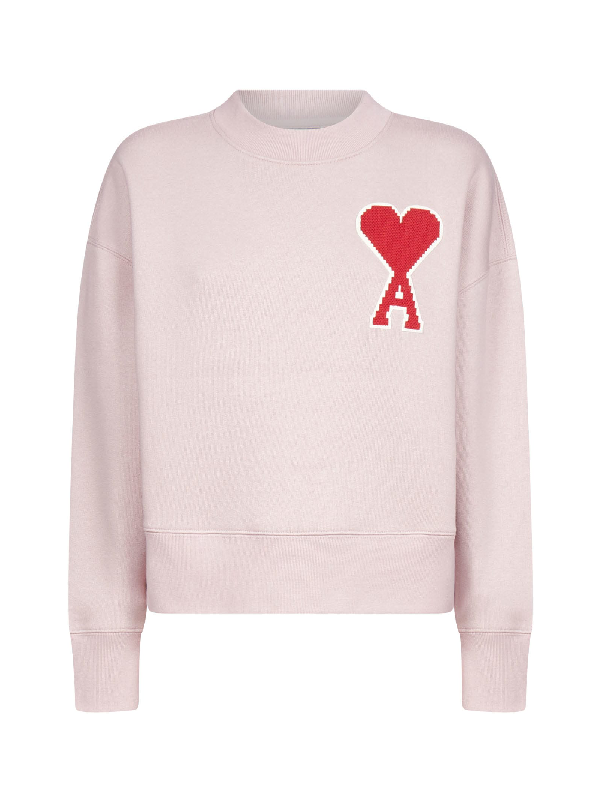 Ami Alexandre Mattiussi Fleece In Pale Pink