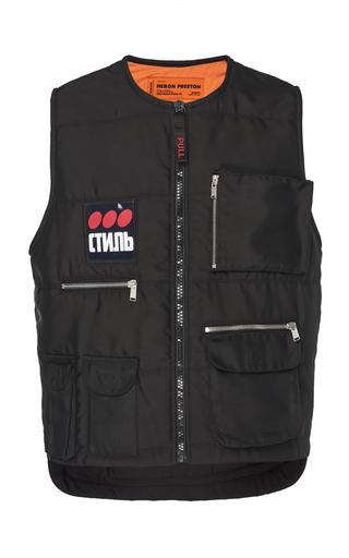 Heron Preston Ctnmb Patch Tech Zipped Multipocket Vest In 1088 Black Multicolor
