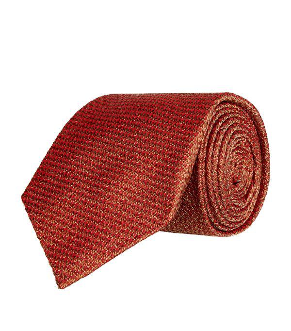 Purdey Tweed Print Silk Tie