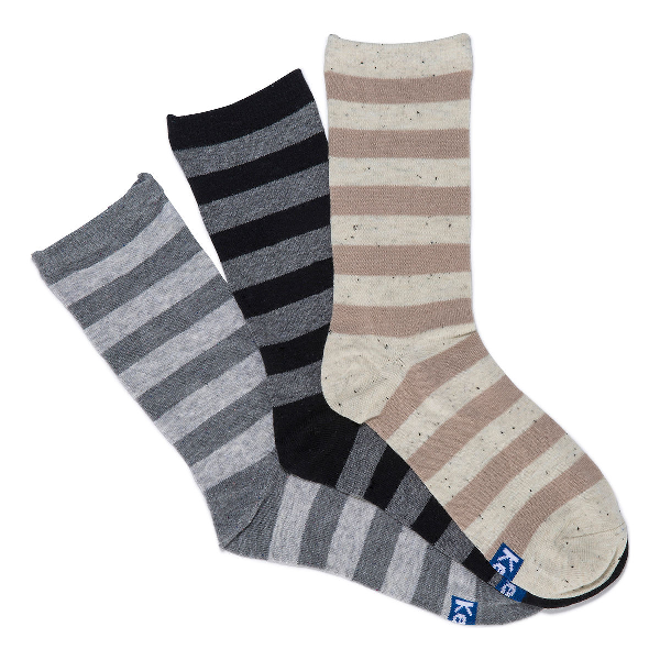 Keds Super Soft Boot Socks In Charcoal Heather Asst
