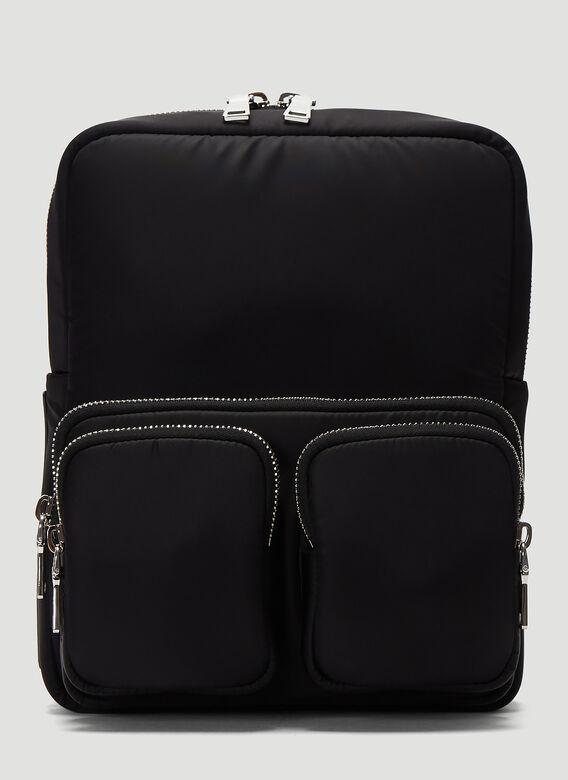 Prada Pocket Backpack In Black