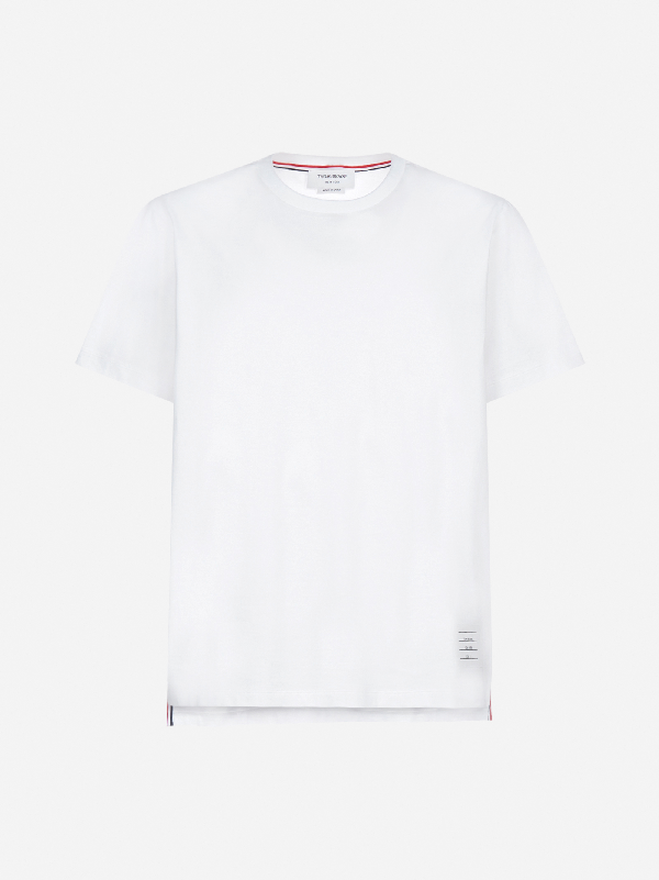 Thom Browne Side Splits Cotton T-Shirt
