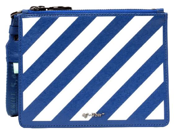 Off-white Double Pouch Diag Blue White