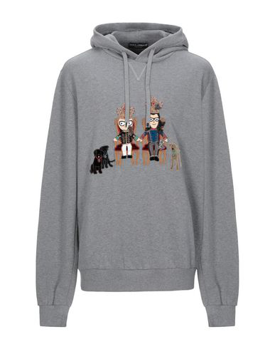Dolce & Gabbana Hooded Sweatshirt In Grey