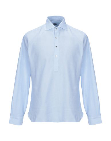Barba Napoli Patterned Shirt In Sky Blue