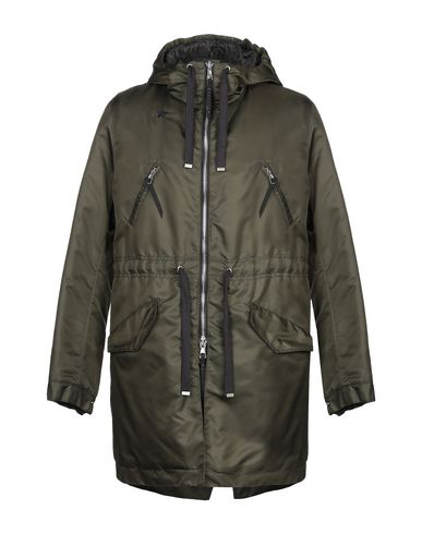 The Editor Full-length Jacket In Military Green