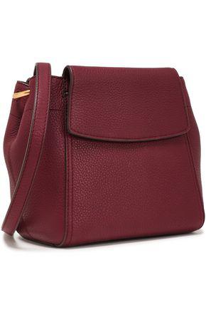 Tory Burch Woman Textured-leather Shoulder Bag Merlot