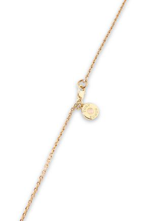 Tory Burch Woman Gold-tone, Agate And Resin Necklace Gold