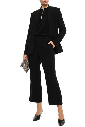 Filippa K Woman Hudson Crepe Bootcut Pants Black