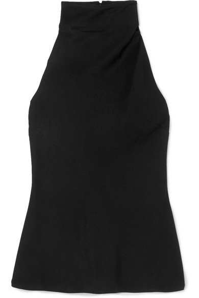 Ellery Limogie Satin Halterneck Top In Black