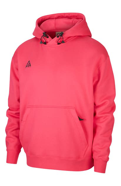 Nike Pullover Hoodie In Rush Pink/anthracite