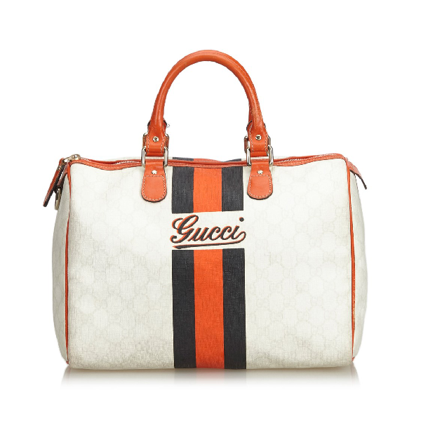 Gucci Gg Joy Boston Handbag In Neutrals