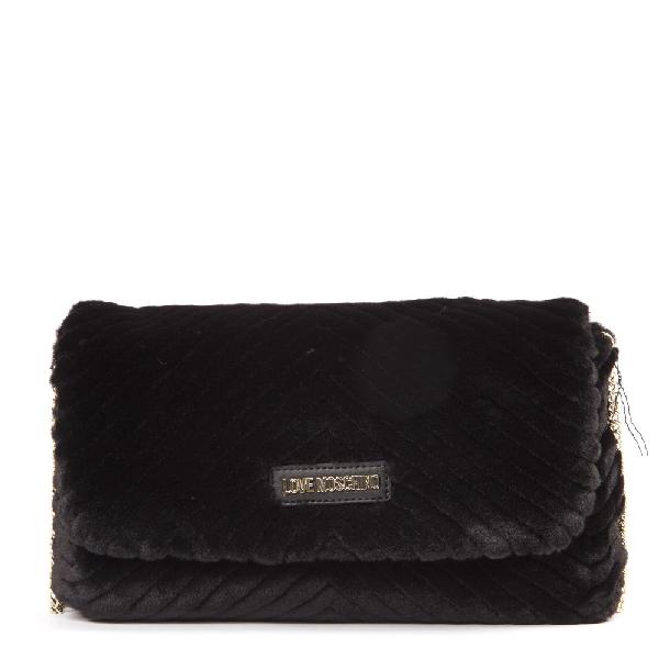 Moschino Black Synthetic Fiber Shoulder Bag