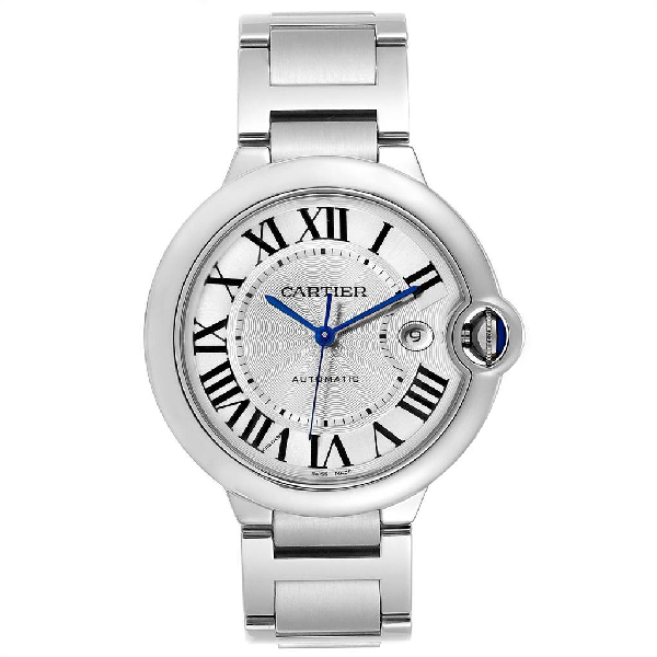Cartier Ballon Bleu 42 Silver Dial Automatic Steel Mens Watch W69012z4 In Not Applicable