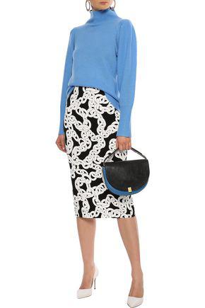 Diane Von Furstenberg Woman Beatrice Wool And Cashmere-blend Turtleneck Sweater Light Blue