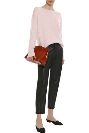 Duffy Woman Pointelle-trimmed Cashmere Sweater Pastel Pink