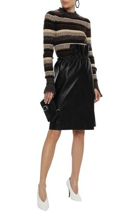 Helmut Lang Woman Ribbed Striped Wool, Cotton, Yak And Cashmere-blend Sweater Multicolor
