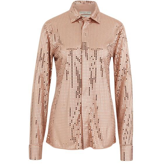Bottega Veneta Pink Polyester Shirt In Skin