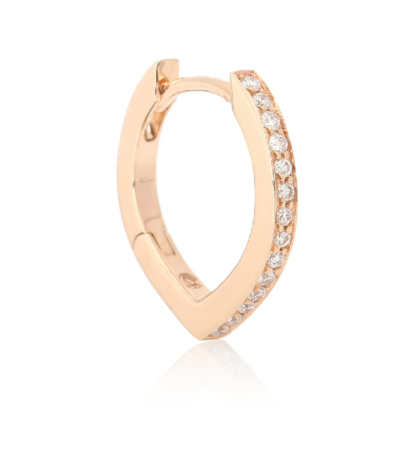 Repossi Antifer 18kt Rose Gold And Diamond Single Earring