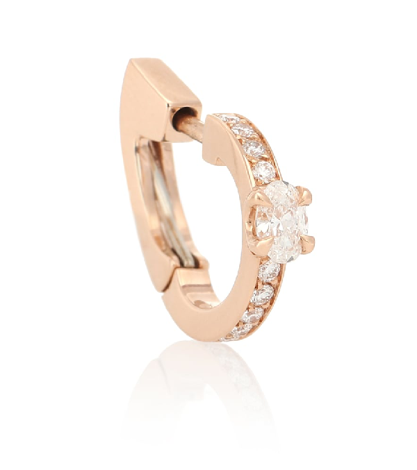 Repossi Harvest 18kt Rose-gold And Diamond Single Earring In Rose Gold