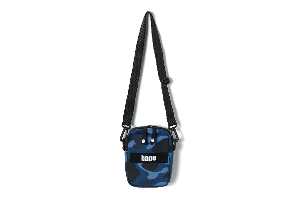 Bape Color Camo Military Shoulder Bag Blue