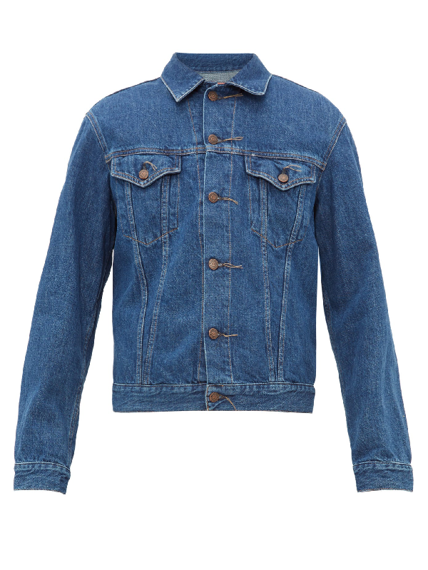 Acne Studios 1998 Slim-fit Denim Jacket In Blue