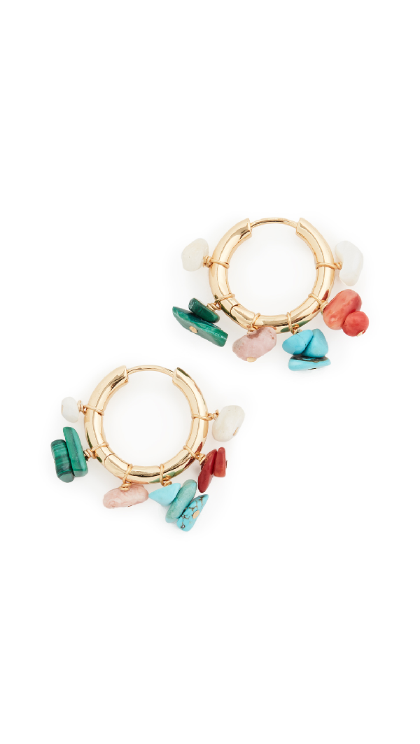 Anni Lu Carine Hoop Earrings In Gold