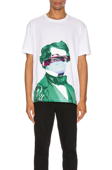 Valentino X Undercover Graphic-Print Cotton-Jersey T-Shirt In White & Green