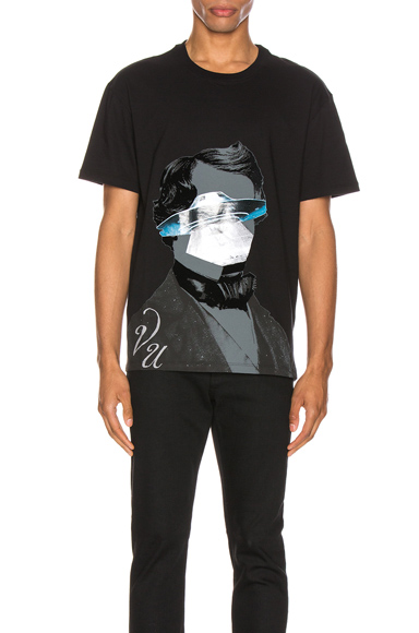 Valentino X Undercover Graphic-Print Cotton-Jersey T-Shirt In Black & Grey & Blue