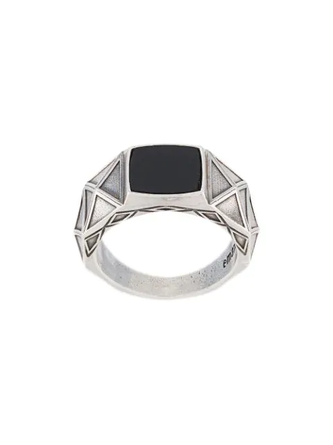 Emanuele Bicocchi Stone Signet Ring In Silver