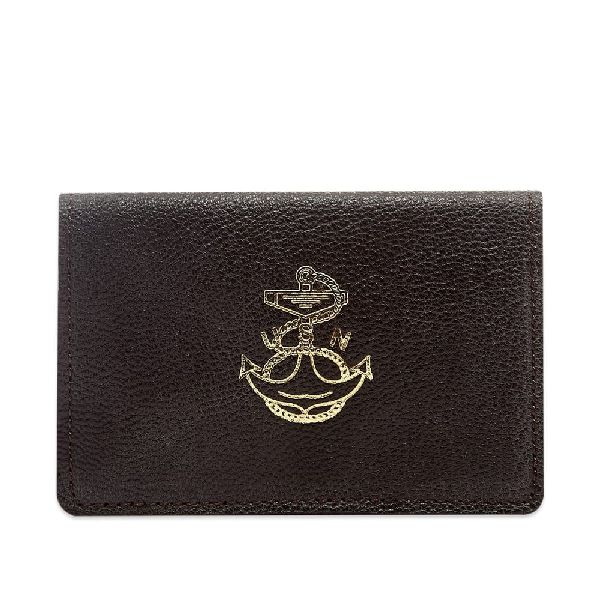 The Real Mccoys The Real Mccoy's Goatskin Card Holder In Brown