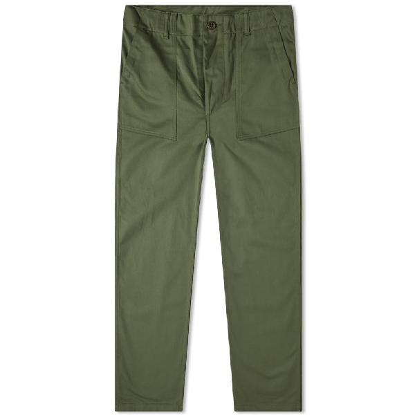 The Real Mccoys The Real Mccoy's Cotton Sateen Trouser In Green