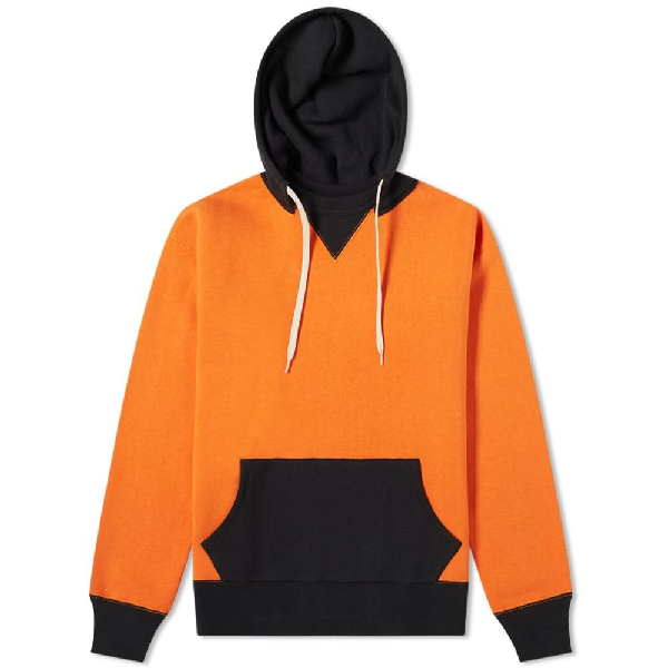 The Real Mccoys The Real Mccoy's Two-tone Hoody In Orange