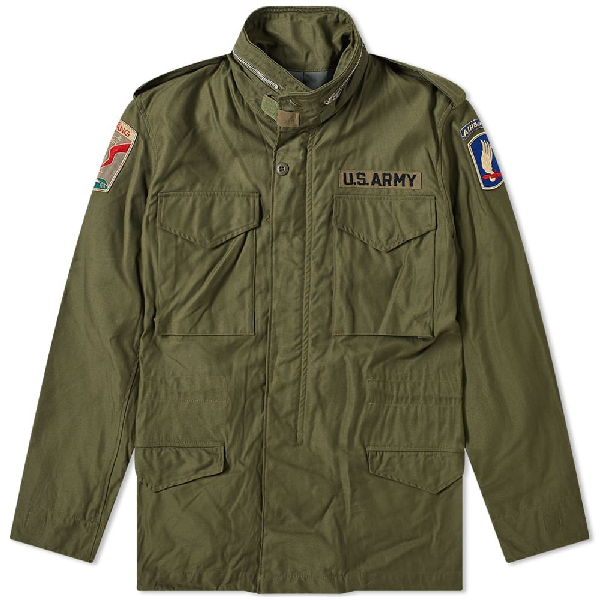 The Real Mccoys The Real Mccoy's M-65 Junction City Field Jacket In Green
