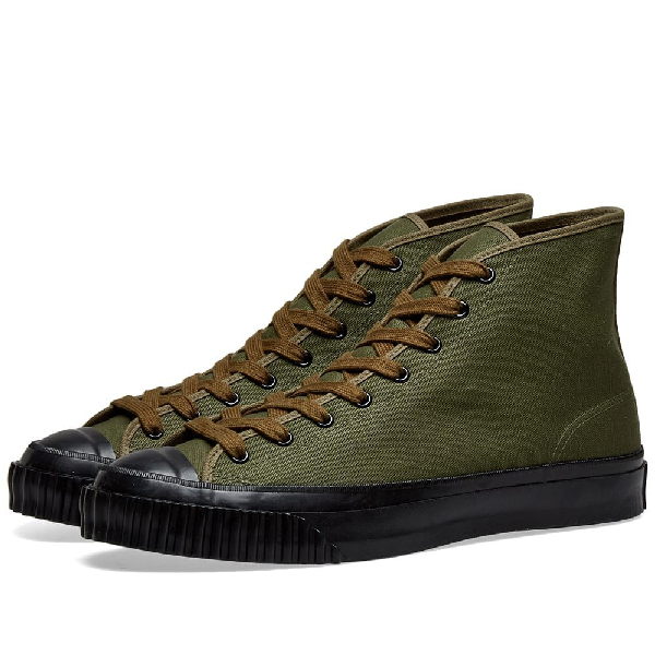The Real Mccoys The Real Mccoy's Military Canvas Training Shoe In Green