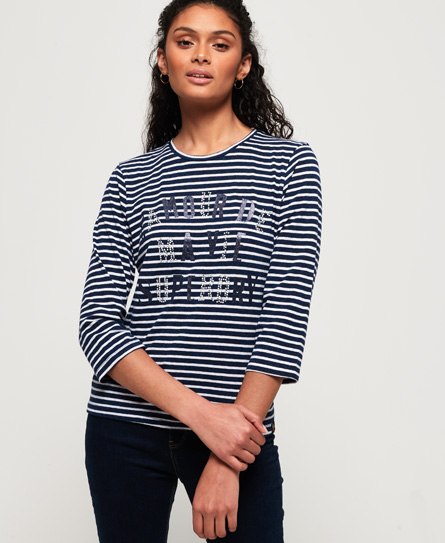 Superdry Jessa Graphic Top In Blue