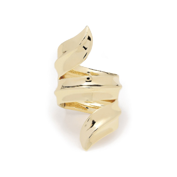 Jennifer Fisher Gold-plated Palm Ring In Yellow Gold