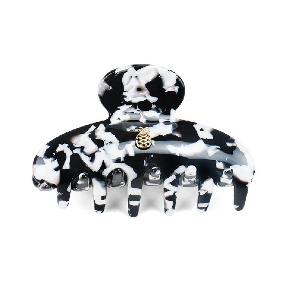 Ia Bon Small Hair Claw – Black & White In Multi Color