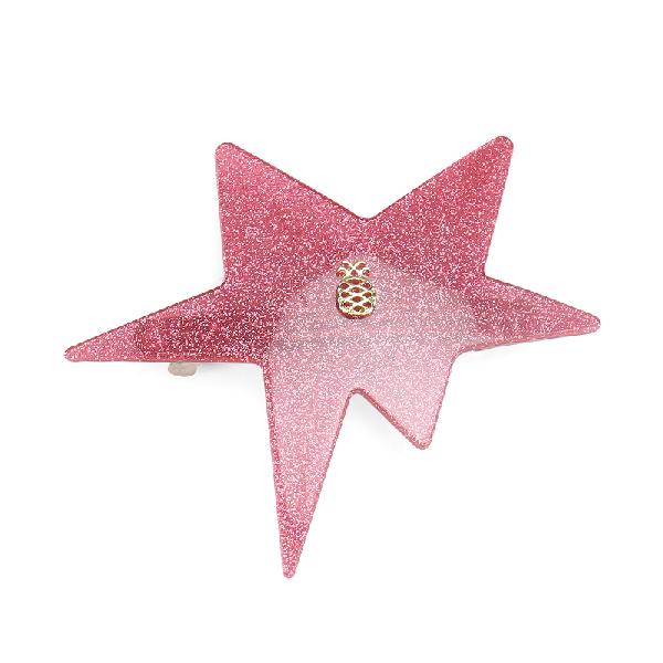 Ia Bon Star Clip – Pink Glitter