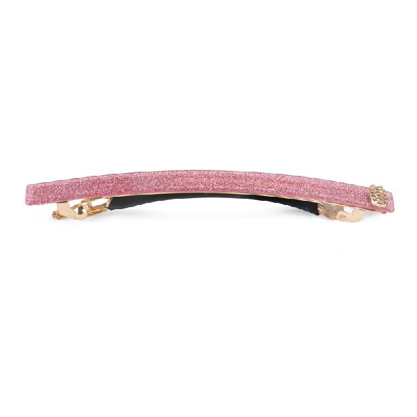 Ia Bon Simple Hair Clip – Pink Glitter