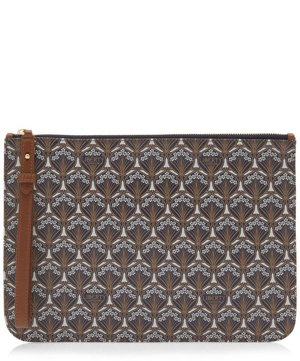 Liberty London Iphis Canvas Clutch In White