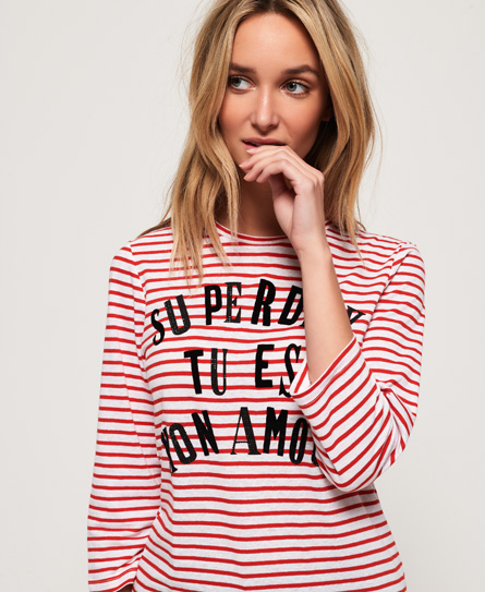 Superdry Jessa Graphic Top In Red