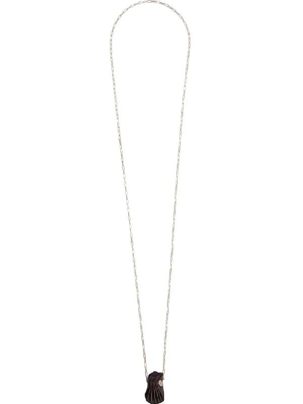 Werkstatt:münchen Shell-charm Necklace In Brown